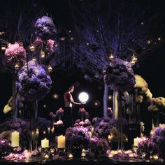 Purple wedding flowers by Jeff Leatham and Reception, Styles, Experts, Florists Bright Wedding Flowers, Winter Wedding Flowers, Flower Decorations, Wedding Decorations, Jeff Leatham, Candle Wedding Centerpieces, Mod Wedding, Wedding Ideas, Wedding Stuff