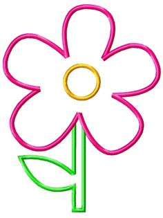 Flower Machine Embroidery Applique Design by SimplySweetEmbroider