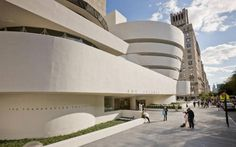 Guggenheim Museum-An iconic, conch-shell shaped museum, designed by Frank Lloyd Wright