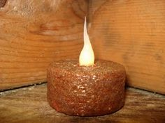 another way to grunge a tea light...
