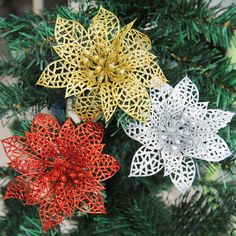 New  Arrival Christmas Flowers Xmas Tree Decoration Glitter Hollow Wedding Party Decor Furniture Fittings As  Best Gift #clothing,#shoes,#jewelry,#women,#men,#hats,#watches,#belts,#fashion,#style
