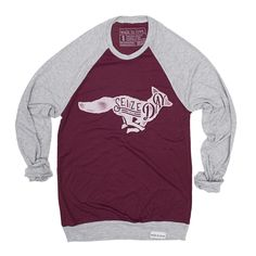 Seize the Day Maroon/Gray Lightweight Sweater – walk in love.
