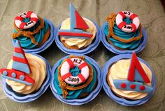 sailing theme cupcakes by The House of Cakes Dubai, via Flickr