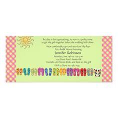 c2a4fcdff2c2b0 Flip Flops in a Row Invitation Outdoor Birthday