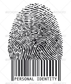 Illustration about Personal identity, fingerprint with barcode,. Illustration of crime, concept, stripe - 13892065 Barcode Art, Barcode Design, Crea Design, Design Art, Graphic Design, Maze Design, Design Elements, Personal Identity, Identity Art