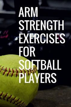 Learn four great arm strength exercises for softball players that can be easily performed at home, at the field, or in the weight room. Arm strengthening is overlooked but can easily increase throwing velocity and pitching velocity in softball. Softball Coach, Softball Mom, Softball Players, Fastpitch Softball, Softball Things, Softball Stuff, Girls Softball Room, Volleyball, Softball Bedroom