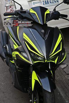 Black Bird Aerox 155cc Yamaha Scooter, Yamaha Motorcycles, Scooter Custom, Custom Bikes, Pit Bike 125cc, Aerox 155 Yamaha, 110 Pit Bike, Diy Go Kart, Scooter Design