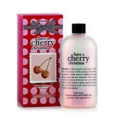 philosophy have a cherry christmas white cherry shampoo, shower gel and bubble bath 480ml - $30.00