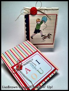 Easy to make notepads using Stampin' Up! Storytime Designer Series Paper. www.inkandinspirations.com