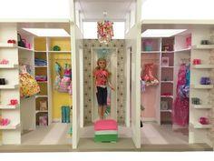 Barbie dollhouse walk in closet casa de muñecas