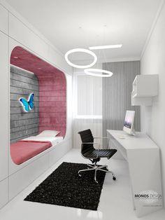 Monos Design - pokój dla nastolatki aranżacja