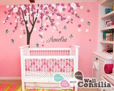 Tree Wall Decal Wall Sticker Baby Nursery Tree por WallConsilia