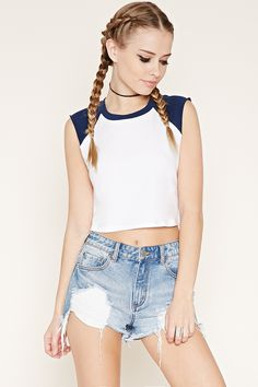 Sleeveless Baseball Tee | Forever 21 - 2000170339