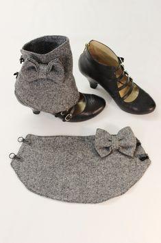 Nouvelles guêtres en tweed transformez vos chaussures en bottines stylées avec cet accessoire en laine shoes accessory addict