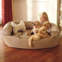 I could totally DIY this! Dog Comfy Couch X-large | Pet Products | SkyMall