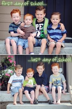 first/last day of school pictures. Cute idea.