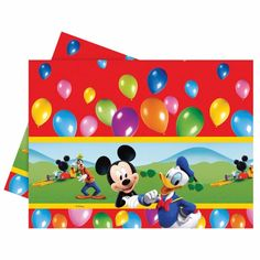1.2m x 1.8m Disney Mickey Mouse Clubhouse Balloons Plastic Table Cover #Disney https://twitter.com/BandPUSA