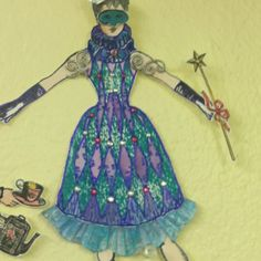 I made this doll also with character constructions stamps