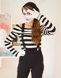 halloween last minute homemade mime costume - Mime For Halloween