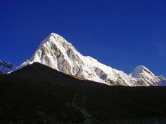 Mt Pumori with Kalapathar at Everest basecamp
