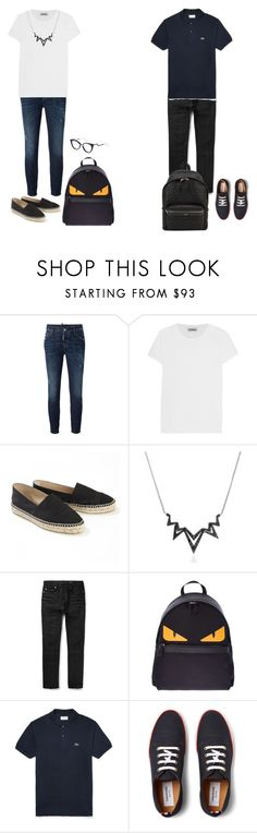 """:)"" by endonggg on Polyvore featuring Dsquared2, Totême, Chanel, Stephen Webster, Yves Saint Laurent, Fendi, Lacoste, Thom Browne, women's clothing and women's fashion"