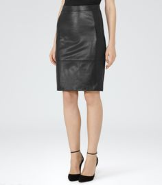 Leather Skirt | The White Company US. Made from butter-soft ...