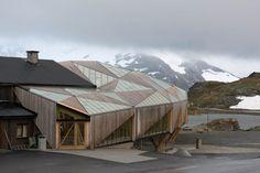 Sognefjellshytta, new entrance building. Architects: Jensen & Skodvin.