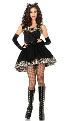 LEOPARD CAT HALLOWEEN CARNIVAL CHRISTMAS COSPLAY COSTUMES FOR WOMEN LADIES FANCY DRESS PARTY ROLEPLAY
