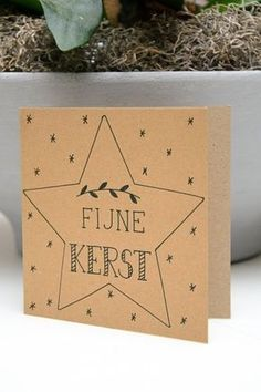 Fijne Kerst Chrismas Cards, Diy Holiday Cards, Xmas Cards, Diy Cards, Christmas Text, Kids Christmas, Christmas Crafts, Hand Lettering Alphabet, Doodle Lettering
