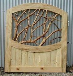 Garden Gate Made From Pallets And Branches   ---  #pallets                                                                                                                                                                                 More