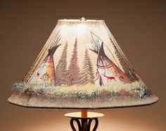38 best rustic painted lamp shades images on pinterest lamp shades painted leather lamp shade 18 teepees aloadofball Choice Image