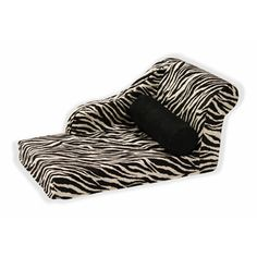 Chaise Lounge Brown Zebra now featured on Fab.