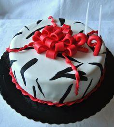 Zebra.  Bolo de chocolate com curd de morango