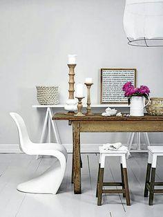 Rustique d'aujourd'hui  #dining+room #rustic #white