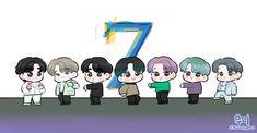 Shinee, Learn To Paint, Learn Painting, Bts Cute, Birthday Cartoon, Jin, Bts Book, Learn Korean, Bts Drawings