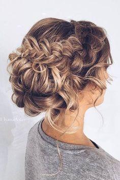 27 Braided Wedding Hair Ideas You Will Love :heart: See more: http://www.weddingforward.com/braided-wedding-hair/ #weddings #hairstyles
