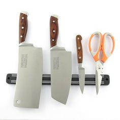Высокое Качество Магнитный Держатель Ножа 33 см Настенное Крепление Черный ABS Calbes Оптического Блока Магнит Держатель Ножа Для Ножей Из Нержавеющей Стали