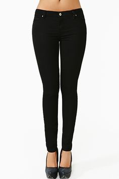 Stunner Skinny Jeans in Black I think I have the perfect top to this assemble make it sheer  nude with a great nude shoe and a pop on the wrist!!