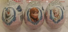3 DISNEY FROZEN SURPRISE CHOCOLATE EGGS WITH TOY INSIDE  easter not kinder