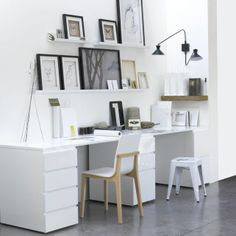 Home Office Design Ideas From The New Work Project Home Office Space, Office Workspace, Home Office Design, Home Office Decor, House Design, Home Decor, Office Ideas, Small Office, Shared Office