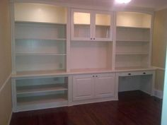 built in entertainment center and desk | Bookshelf, Bookcase, Entertainment center, desk. Built with maple ...
