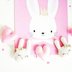 Slinger konijntjes roze goud