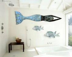 metal mermaid for the bath.