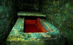 Sarkophag der roten Maya-Königin Tz'ak-b'u Ajaw. Sie wurde 60 Jahre und litt unter Osteoporose. spiegel-online.de
