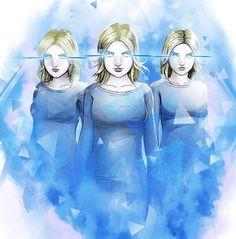 The Frost Sisters: Esme, Phoebe & Sophie Strucker Marvel, Marvel Comics Art, Marvel Girls, Marvel Heroes, Captain Marvel, Marvel And Dc Characters, Beautiful Fantasy Art, X Men, Marvel Universe