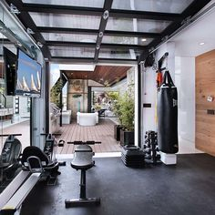 Home Gym Ideas - Are you feeling out of shape? then certainly the very best way to ensure you do workout is to have a fitness space right in your own home. 21 Best Home Gym Ideas Home Gym Basement, Home Gym Garage, Diy Home Gym, Home Gym Decor, Gym Room At Home, Best Home Gym, Walkout Basement, Basement Workout Room, Dream Garage