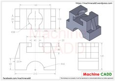 Machine CADD welcomes you.On this section we will provide you CAD Exercises for any CAD software.You can practice these CAD Exercises in any CAD softwares li… Engineering Notes, Mechanical Engineering Design, Mechanical Design, Isometric Drawing Exercises, Autocad Isometric Drawing, Oblique Drawing, Cad 3d, Orthographic Drawing, Solidworks Tutorial