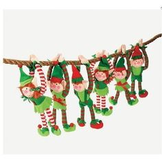 12 - DELUXE PLUSH HANGING CHRISTMAS ELFS - TREE DECORATIONS - HOLIDAY STOCKING STUFFERS --- http://www.amazon.com/12-CHRISTMAS-DECORATIONS-STOCKING-STUFFERS/dp/B0049L4AHU/?tag=mydietpost-20