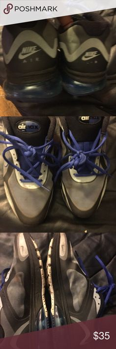 Nike air max Nike air max sz 9.5.  Shoes are in used condition.  Good for the gym.  They are about 8/10 no insole with these shoes.  You can add the nike+ component to the inside of the shoe Nike Shoes Sneakers
