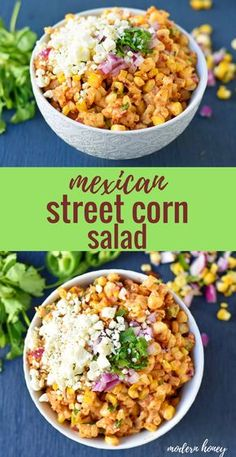 3aab2beb6 Mexican Street Corn Salad. Mexican Street Corn in a bowl made with roasted  corn,